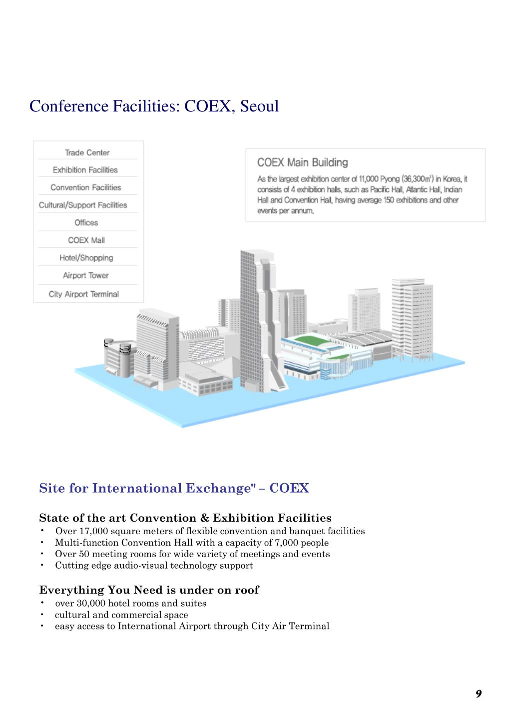 Conference Facilities: COEX, Seoul