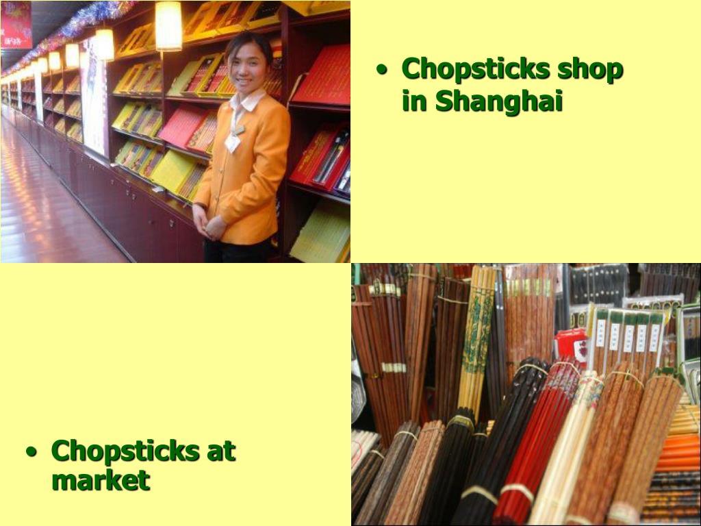 Chopsticks at market