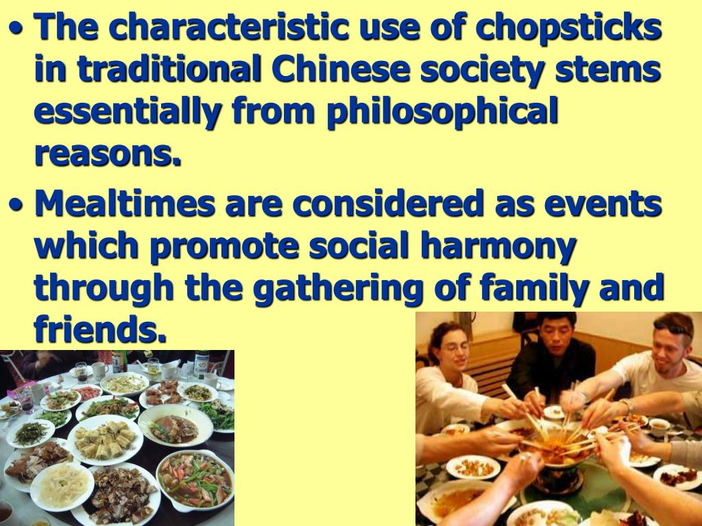 The characteristic use of chopsticks in