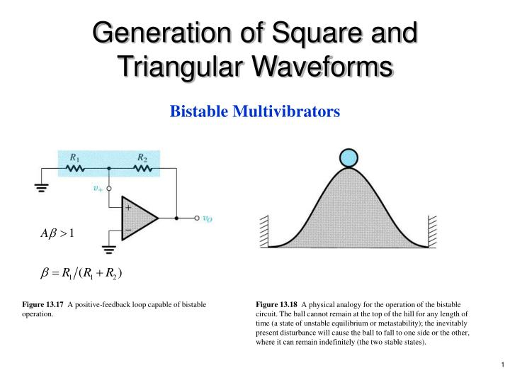Generation of Square and Triangular Waveforms