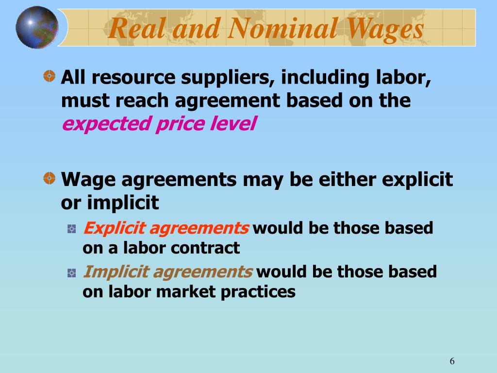 Real and Nominal Wages