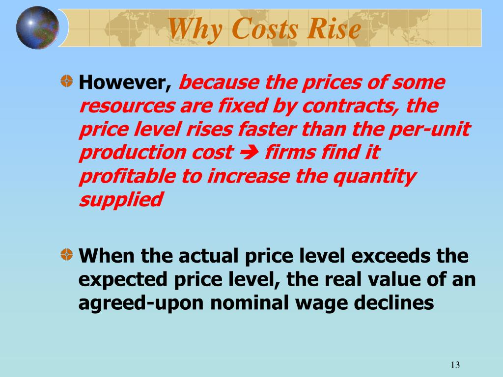 Why Costs Rise