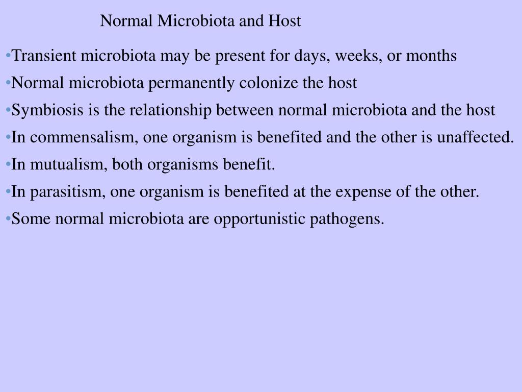 Normal Microbiota and Host