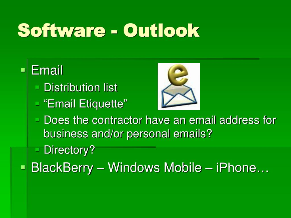 Software - Outlook