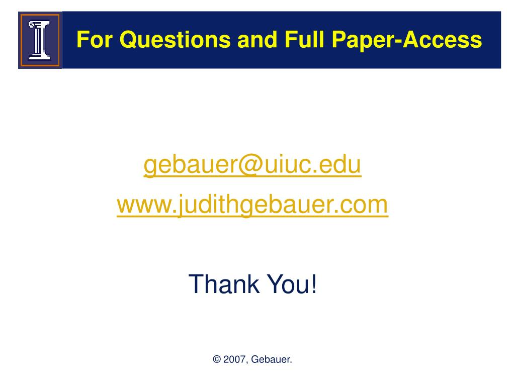 For Questions and Full Paper-Access