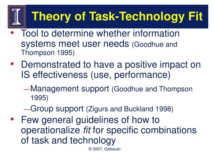 Theory of task technology fit