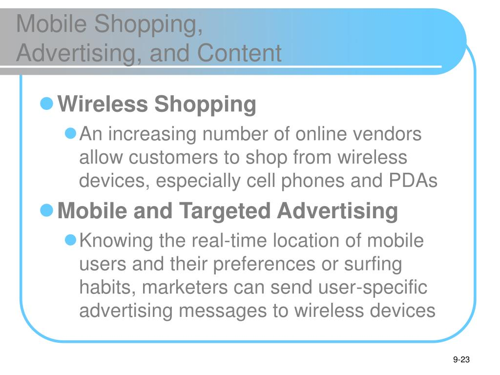 Mobile Shopping,