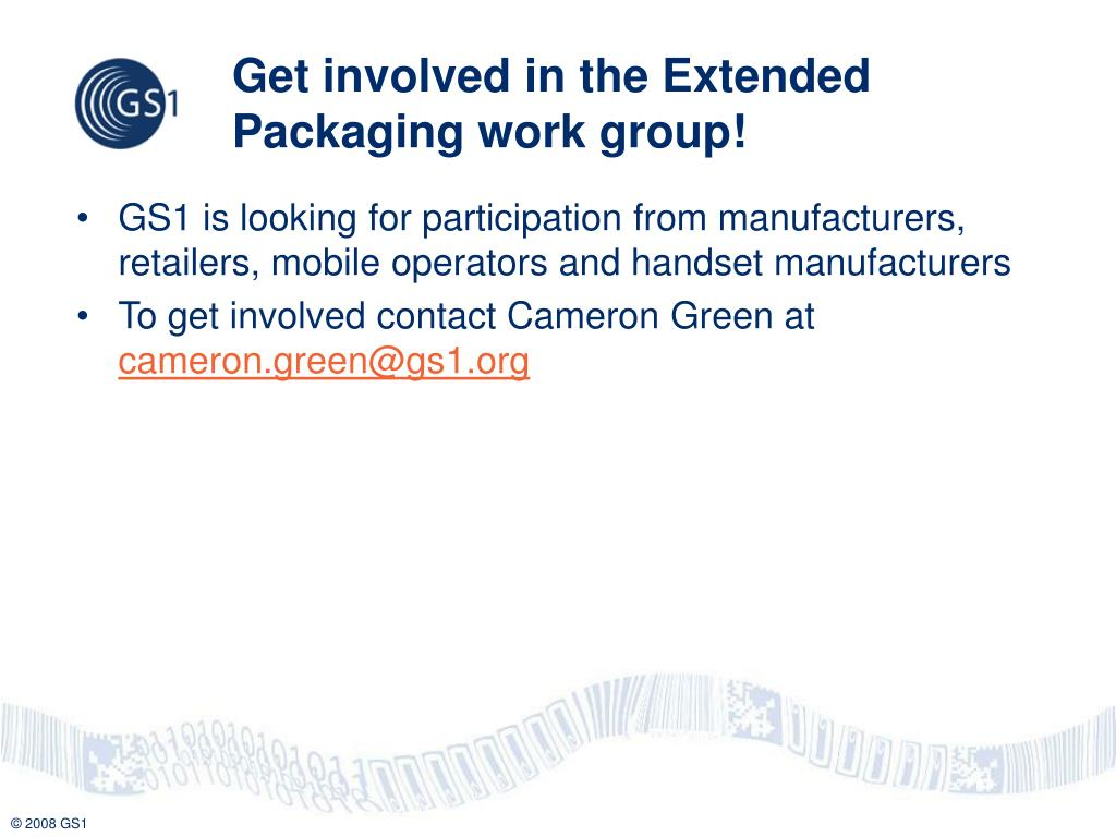 Get involved in the Extended Packaging work group!