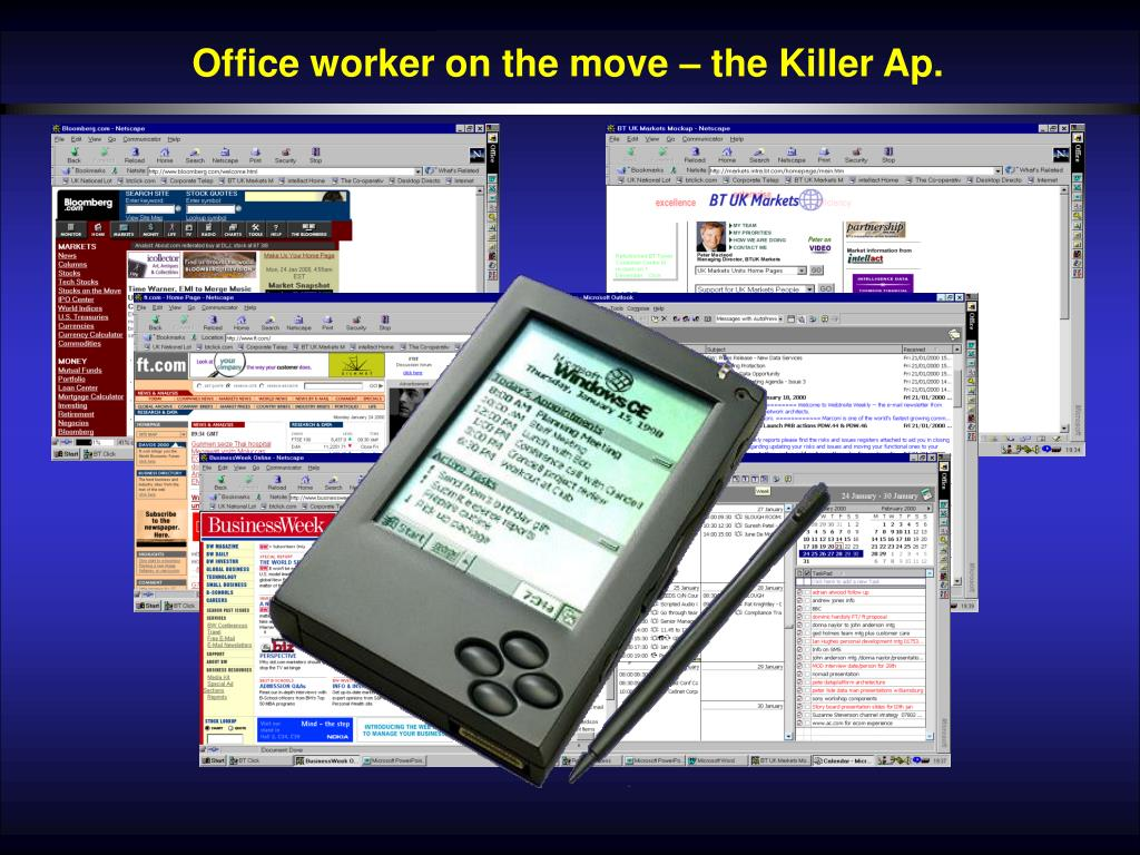 Office worker on the move – the Killer Ap.