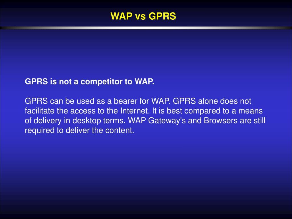 WAP vs GPRS