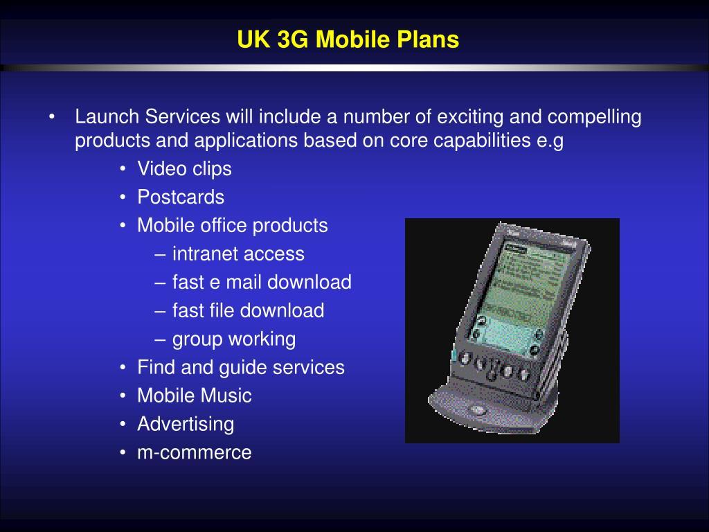 UK 3G Mobile Plans