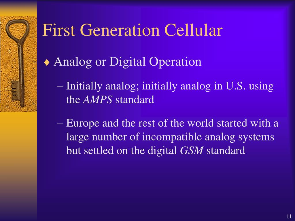 First Generation Cellular