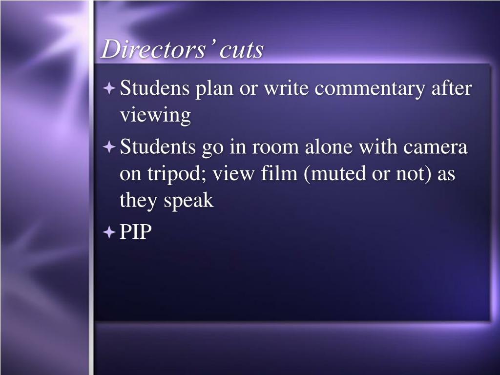 Directors' cuts