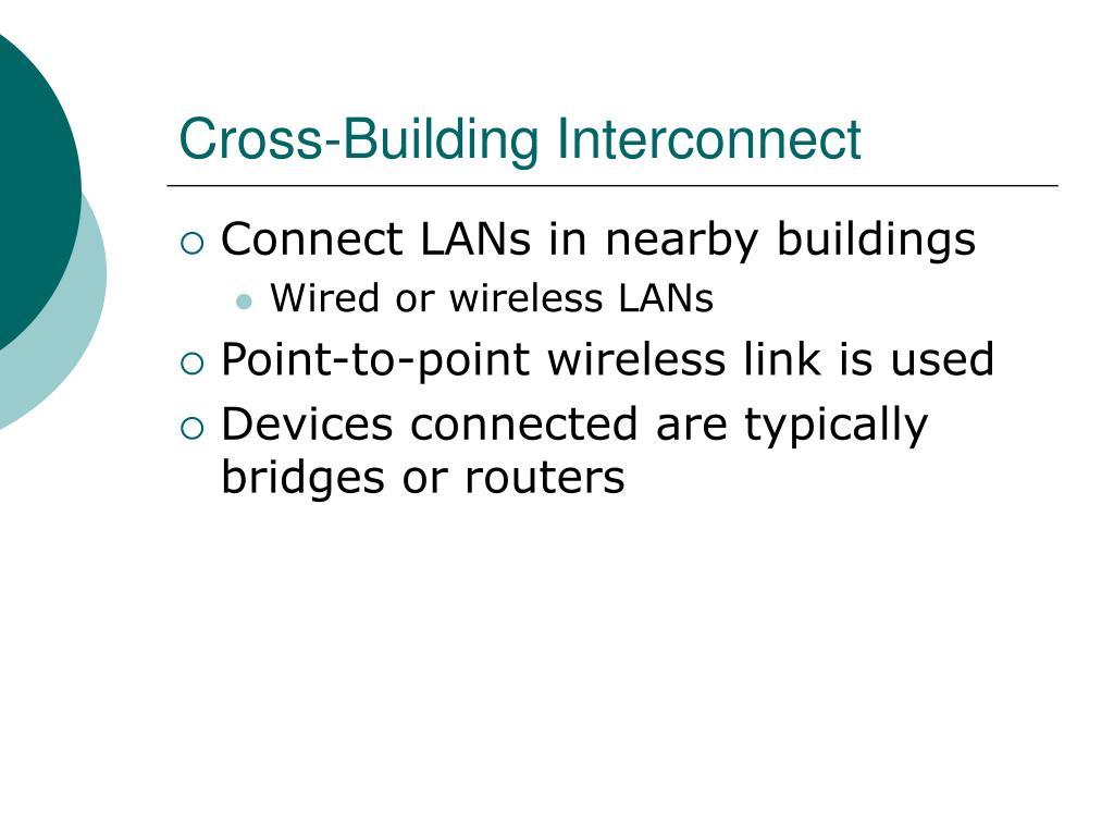 Cross-Building Interconnect