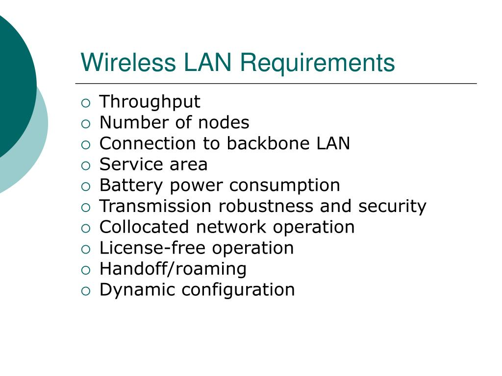 Wireless LAN Requirements