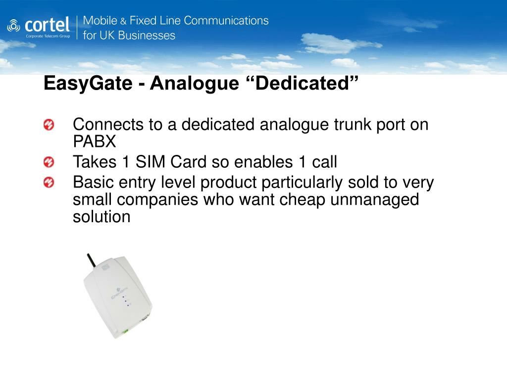 "EasyGate - Analogue ""Dedicated"""