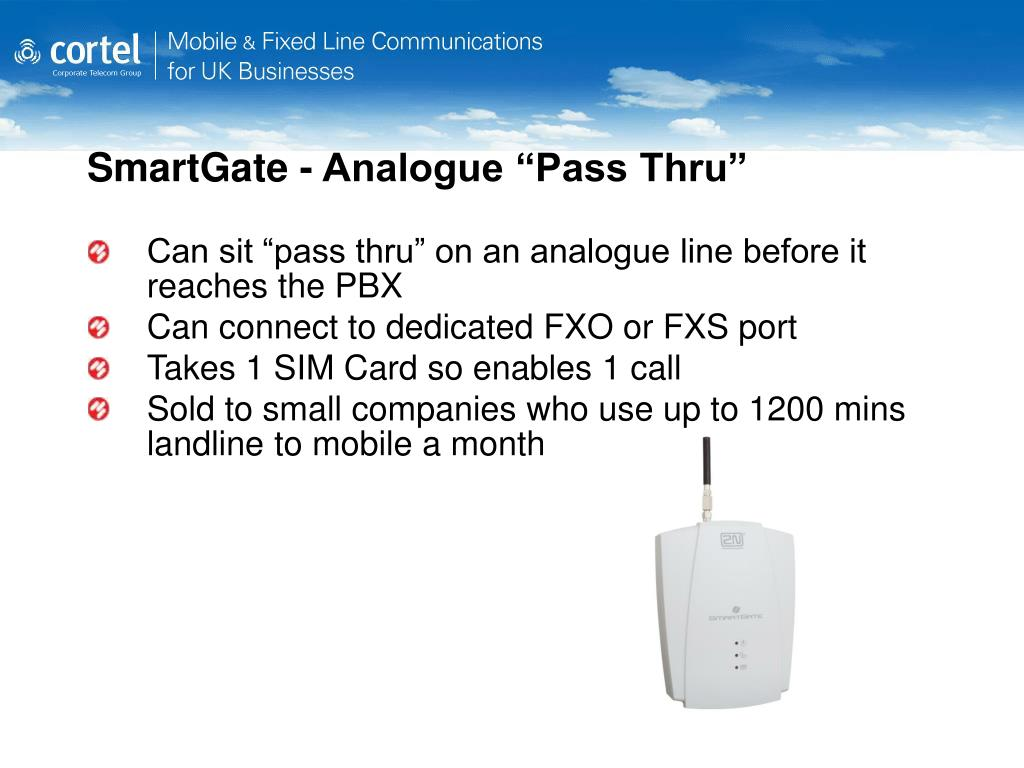 "SmartGate - Analogue ""Pass Thru"""