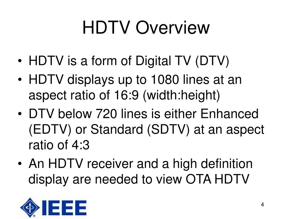 HDTV Overview