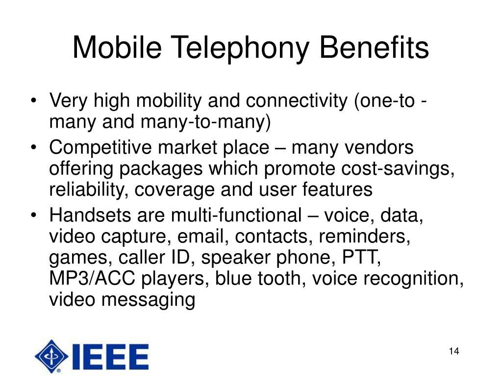 Mobile Telephony Benefits