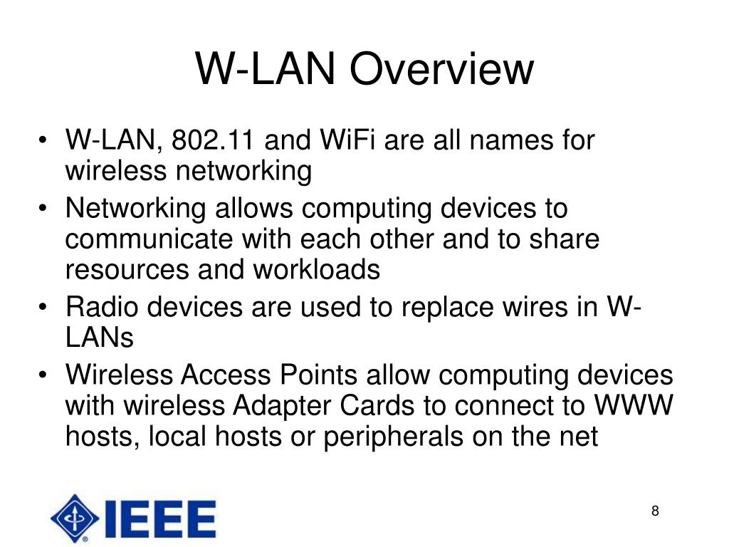 W-LAN Overview