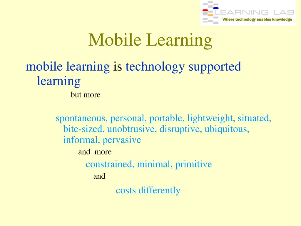 Where technology enables knowledge
