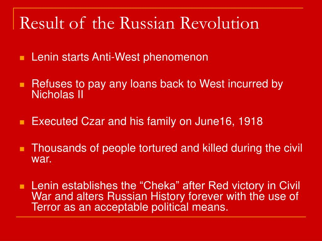 Result of the Russian Revolution