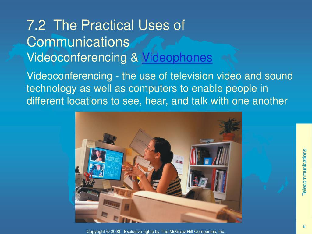 7.2  The Practical Uses of Communications