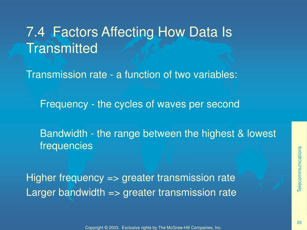 7.4  Factors Affecting How Data Is Transmitted
