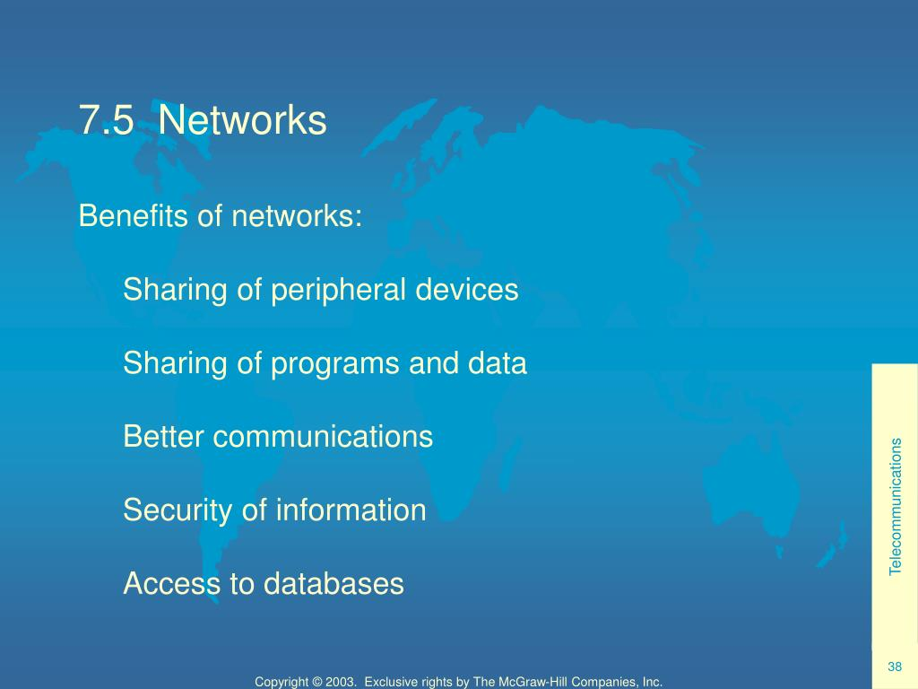 7.5  Networks