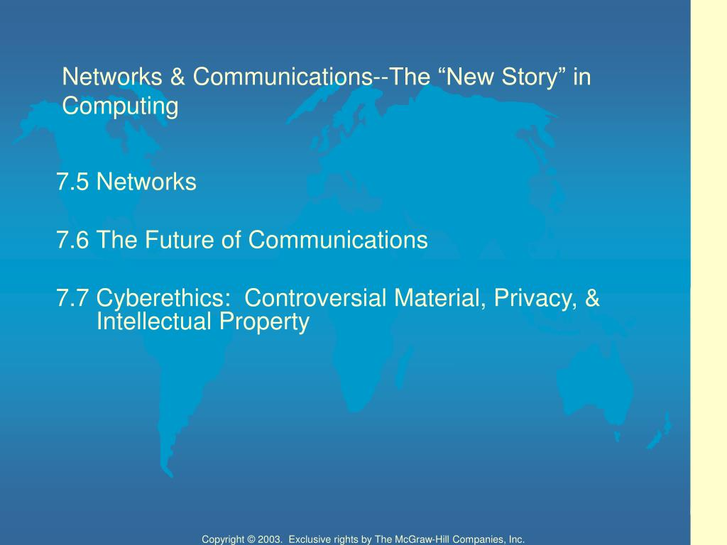 "Networks & Communications--The ""New Story"" in Computing"