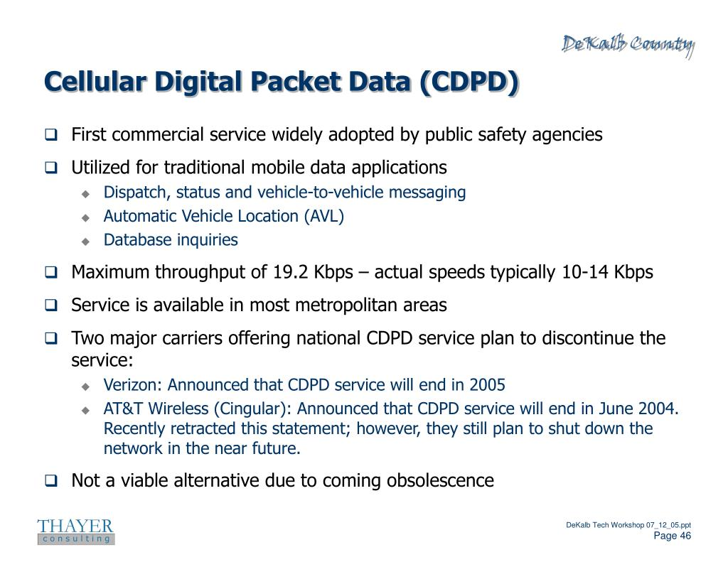 Cellular Digital Packet Data (CDPD)
