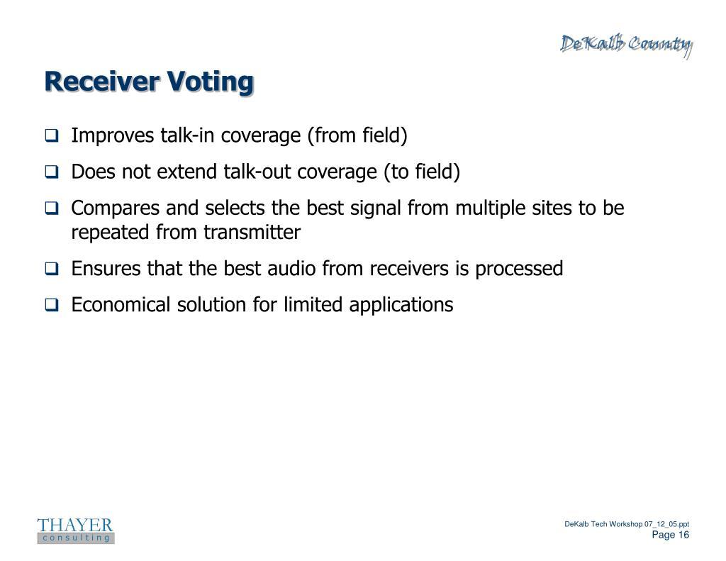 Receiver Voting