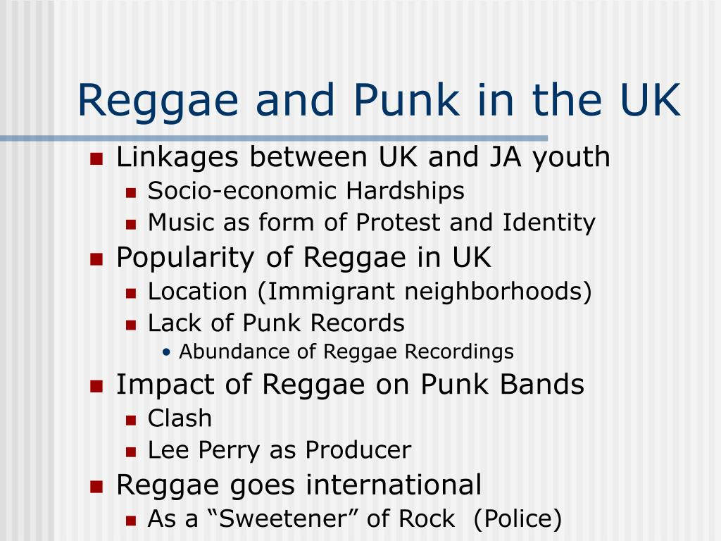 Reggae and Punk in the UK