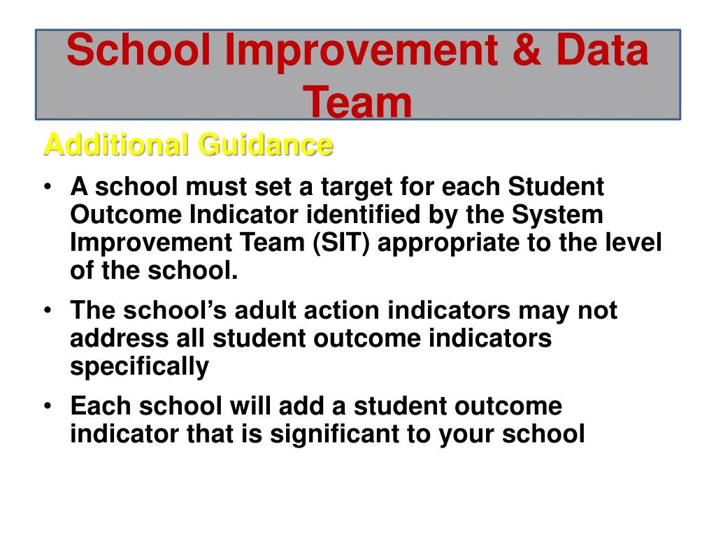 School Improvement &