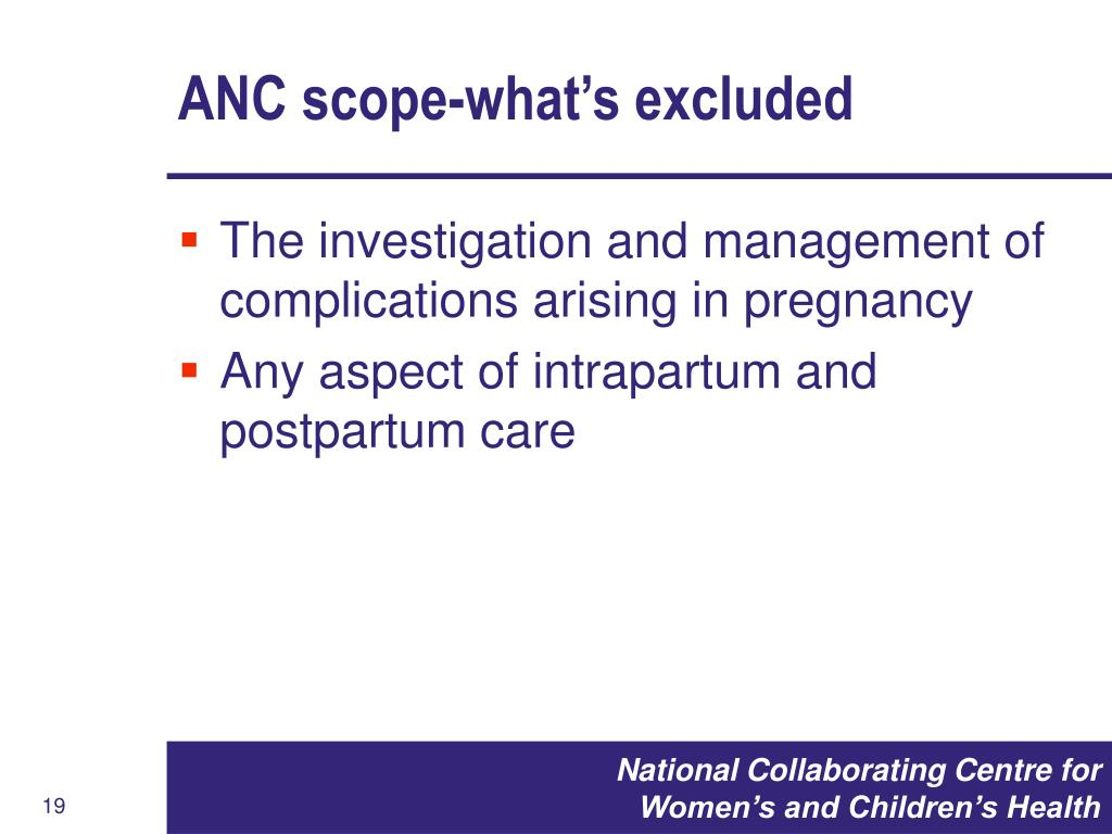 ANC scope-what's excluded
