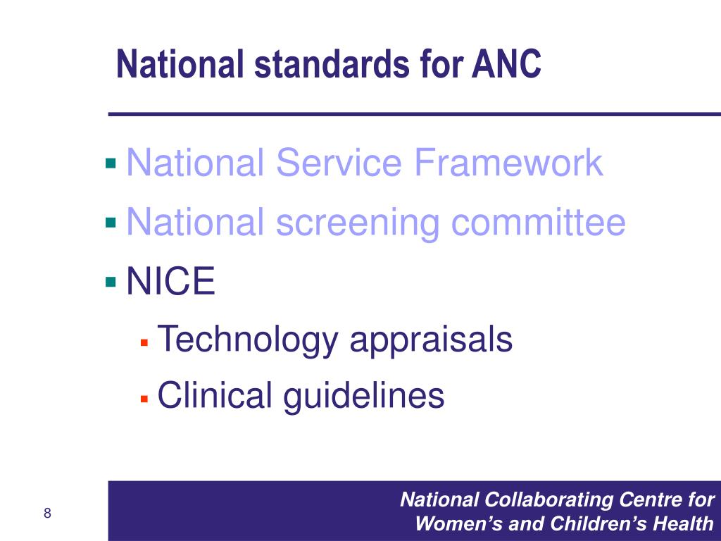 National standards for ANC