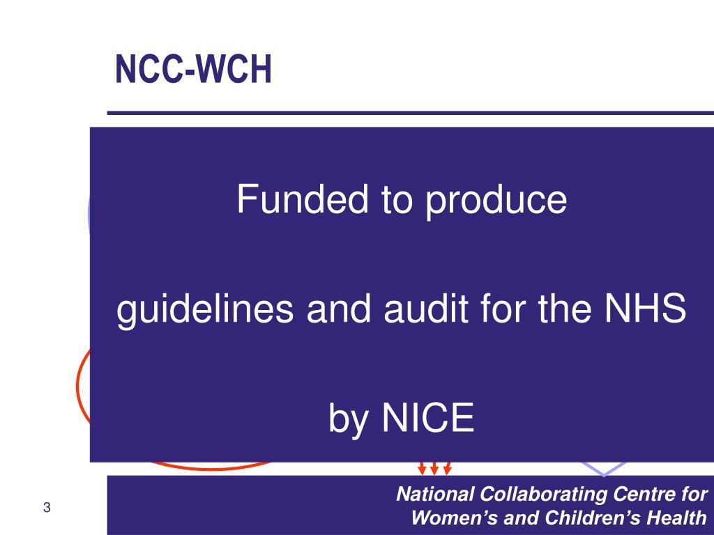 NCC-WCH