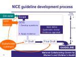 nice guideline development process