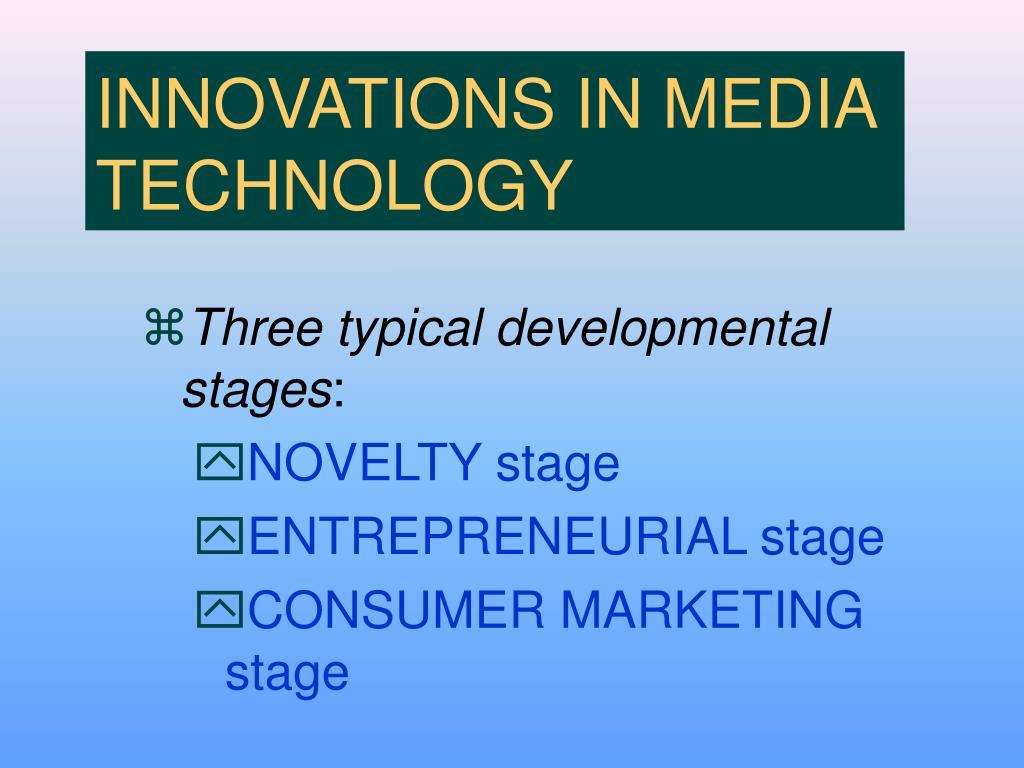 INNOVATIONS IN MEDIA TECHNOLOGY