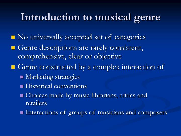 Introduction to musical genre3