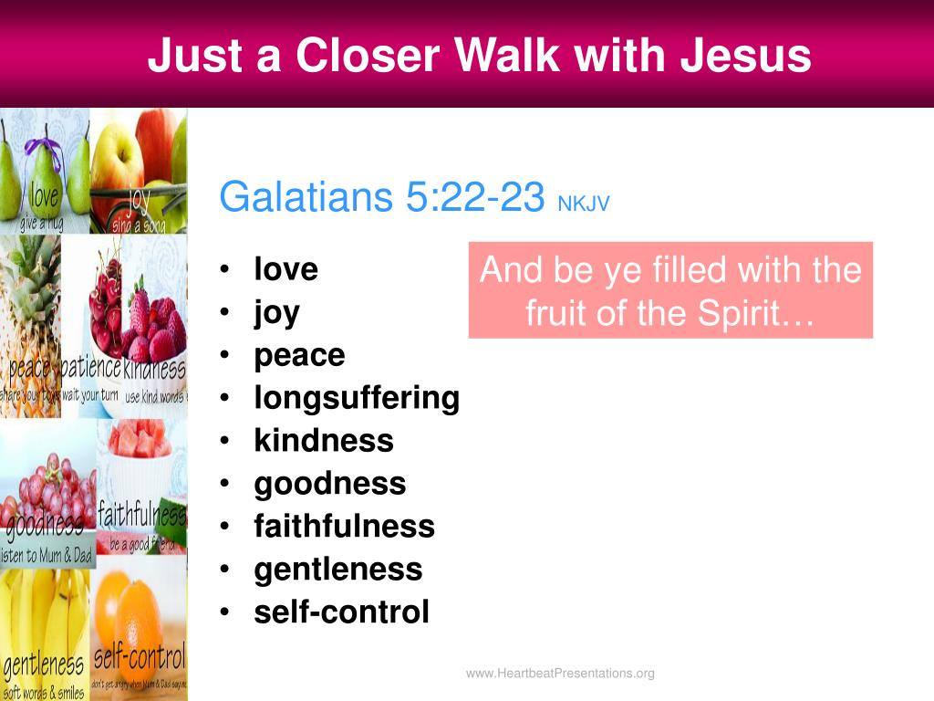 Just a Closer Walk with Jesus