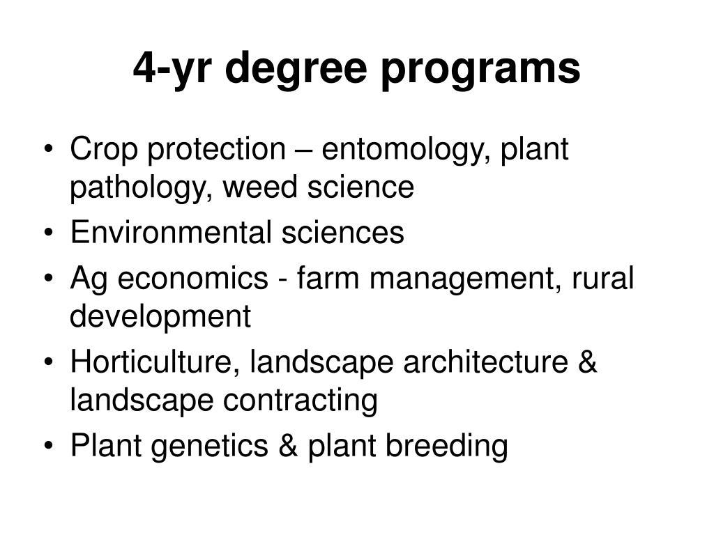 4-yr degree programs