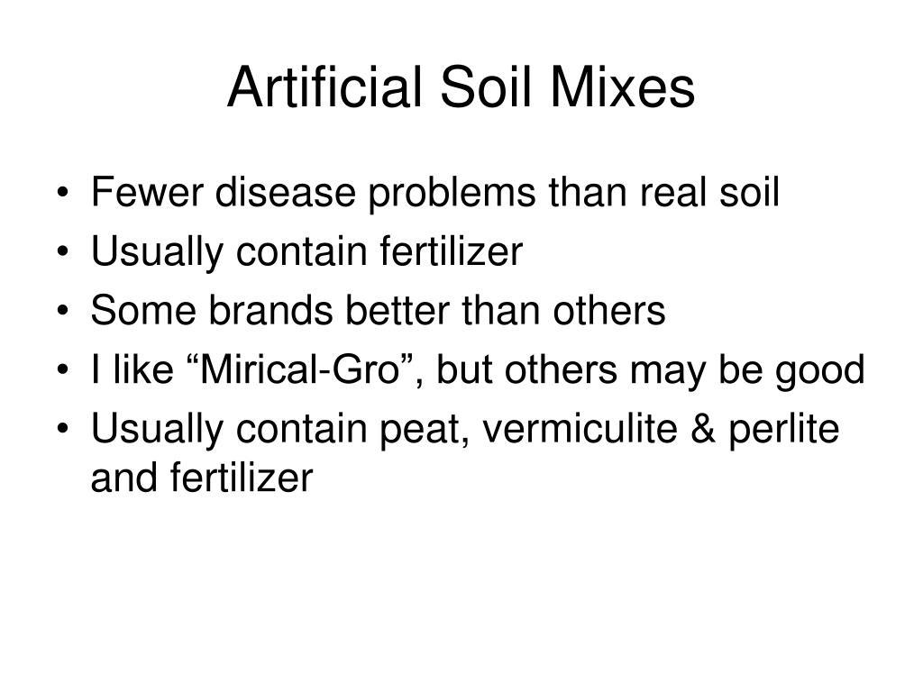 Artificial Soil Mixes