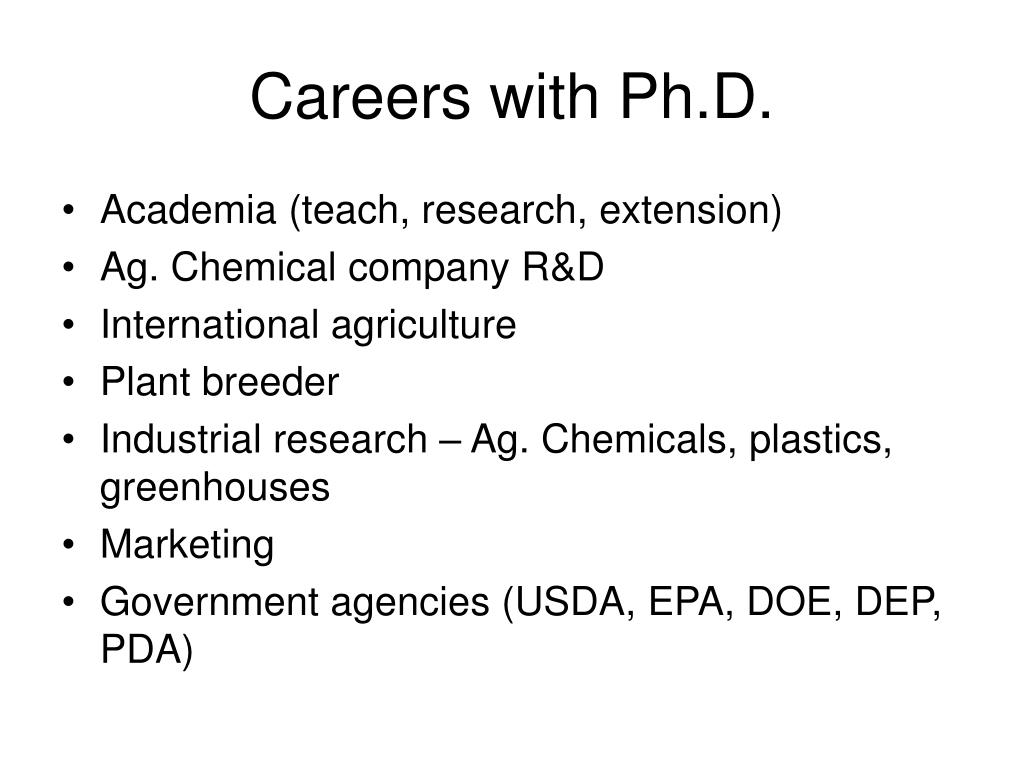 Careers with Ph.D.