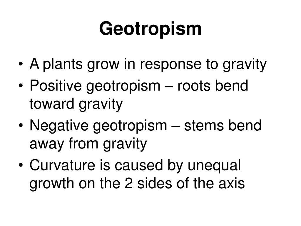 Geotropism