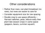 other considerations92