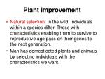 plant improvement