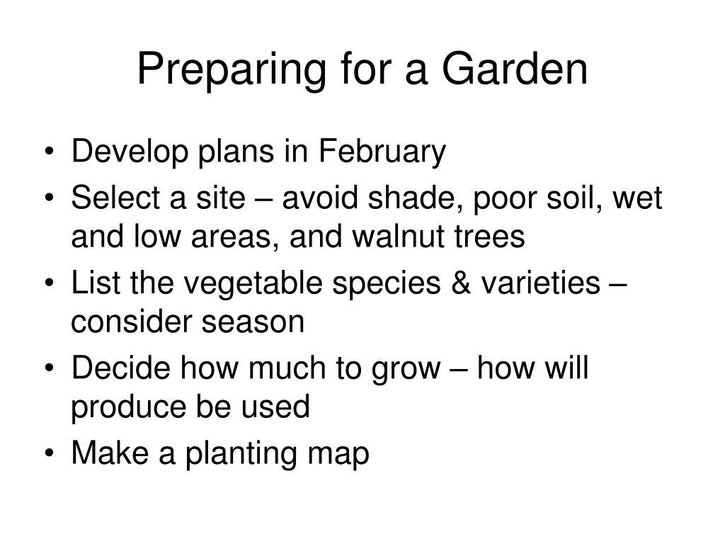 Preparing for a Garden