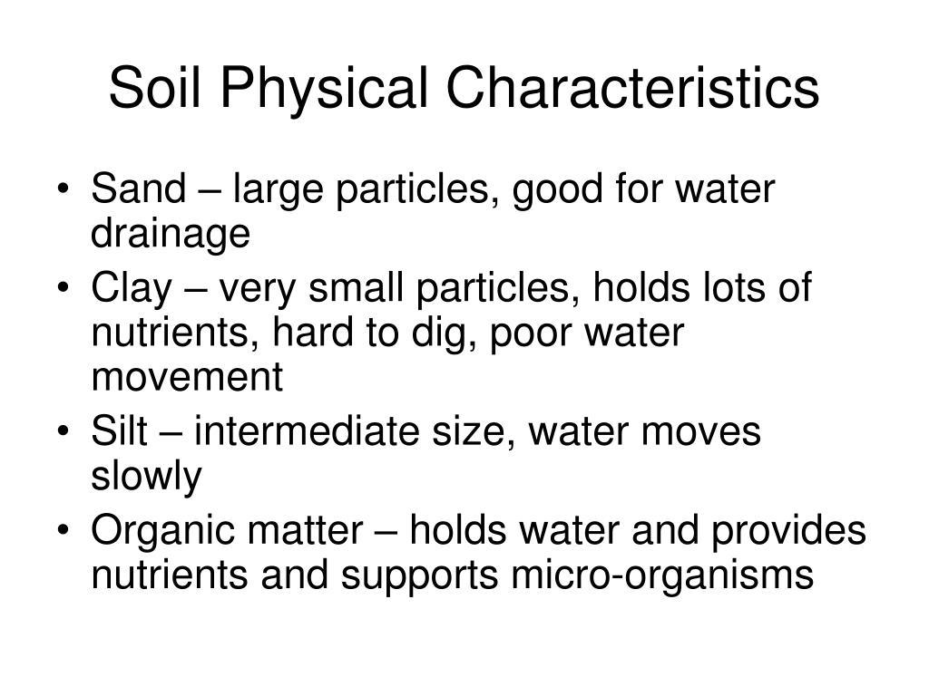 Soil Physical Characteristics