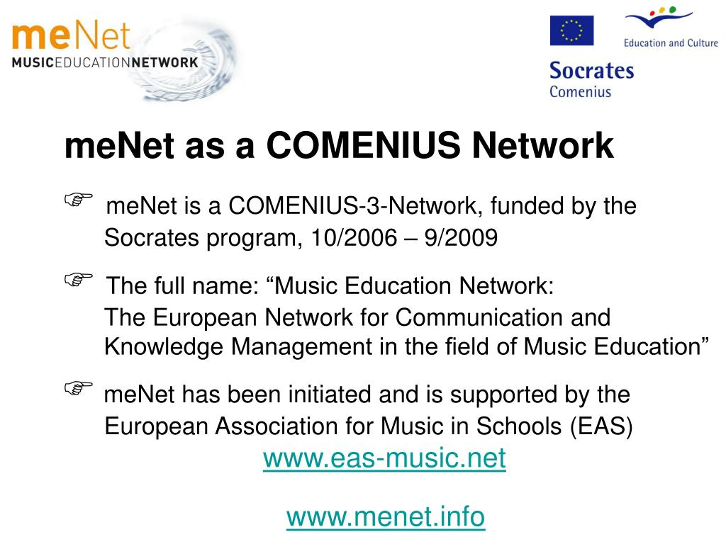 meNet as a COMENIUS Network